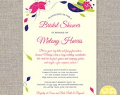 big hats and fascinators - custom bridal shower invitation - DIY printable file by YellowBrickStudio