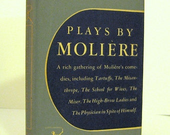 Moliere Plays Including Tartuffe, Misanthrope, School for Wives,  Physician in Spite of Himself - Modern Library Book  Vintage Drama
