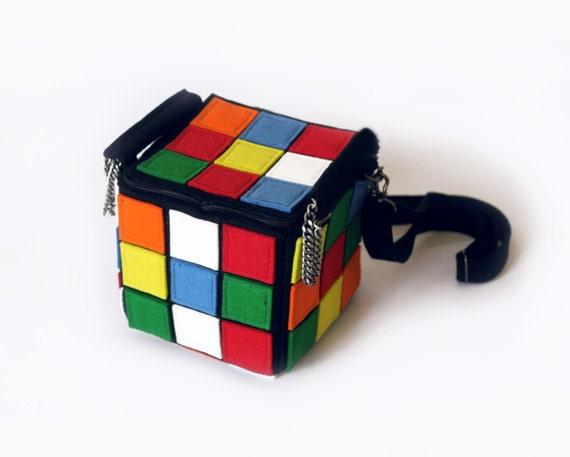 Rubiks Cube Purse Cube Felt Bag
