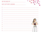 """Printable Weekly To Do List -- Instant Digital Download Printable Wedding To Do -- 8.5"""" x 11"""" PDF"""