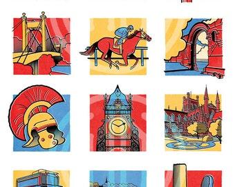 Comic Book Chester Print - A3