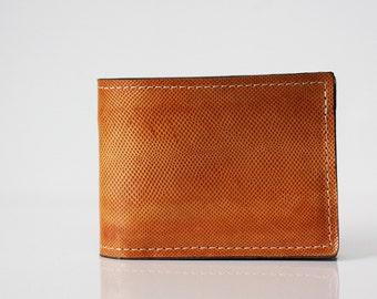 Leather Wallet / Karung Snake / Tan