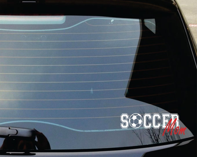 Sports Car Decal -  Small Decal - Car Sticker - Soccer Decal - Football Decal - Baseball Decal - Volleyball Decal
