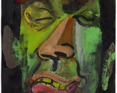 Original Painting - 'The Beat-up Face' by Peter Mack