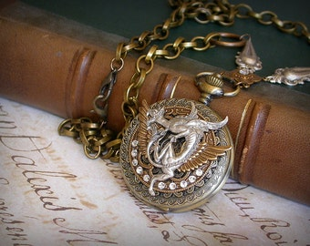 Game of Thrones Necklace Steampunk Pocket Watch Necklace Dragon Gothic Locket Watch Gothic Jewelry Game of Thrones