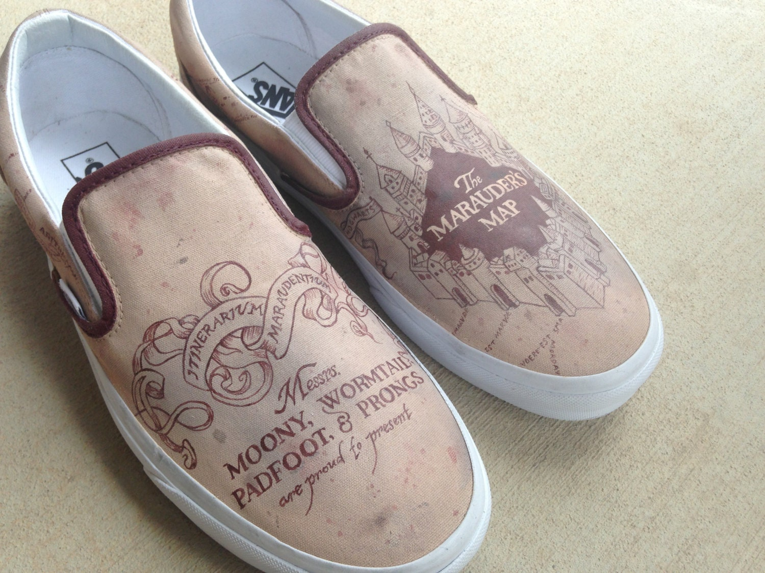 custom hand painted shoes marauder s map from harry