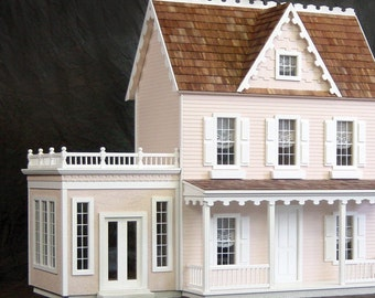 Conservatory Wooden Dollhouse Kit, Scale One Inch