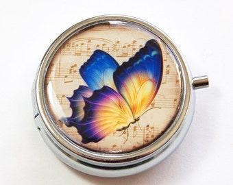 Butterfly pill case, Pill Box, Pill Case, Butterfly, Pill Container, Mint Container, Butterfly pill box, butterfly case (3155)