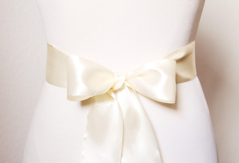 2 inch wide satin sash belt bridesmaid bridal flower