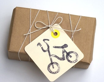 Mini Bicycle Gift Tags- Set of 8