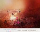 Digital Backdrop Little Fairy psd template