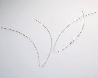 Free shipping, chain earrings, long earrings, silver dangle earrings, ear jacket, threader earrings