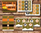 AJP105 Construction Party Package - STANDARD - Dump Truck - Invite - Invitation - Printable - Style A