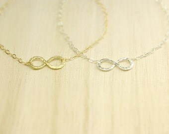 Hammered infinity bracelet