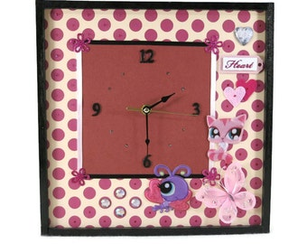 Wall Clock, Modern Wall Art In Pink for Girls Bedroom decor, Teenagers Birthday Gift, Nchanted Gifts
