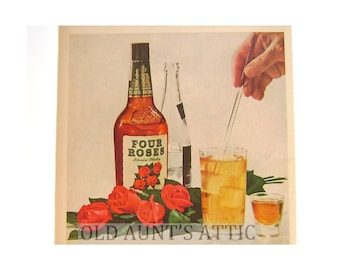Vintage Four Roses Advertising, Meadow Gold Ice Cream, Mad Men, Drinking, Blended Whiskey, Dessert, Kentucky Derby,Promotion