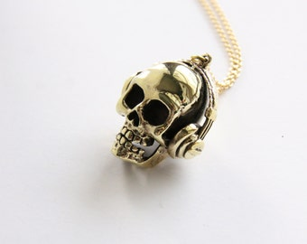 Skull with DJ Headset Pendant / Necklace