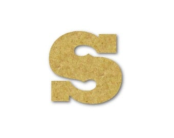 """Small Wooden Letters """"s"""" Unfinished, Unpainted, Decorative Font -- Perfect for Crafts, DIY, Nursery, Kids Rooms, Weddings – Sizes 1"""" to 42"""""""