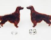 Irish Setter earrings Irish setter post earrings setter jewelry