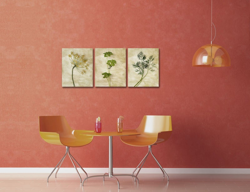 Kitchen Wall Decor Neutral Prints Set Botanical Prints Set