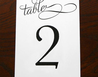 """Printable Table Numbers Set (1-20) """"Romanza""""  (Instant Download)"""