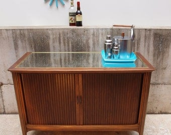 Mid Century Upcycled Tv Bar Cabinet (PICK UP ONLY)