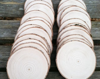 Pine wood slices