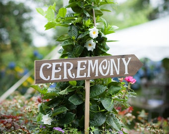 Ceremony Sign, Wedding Ceremony Decor, Hand Painted Wood Sign, Painted Sign, Outdoor Wedding Decorations, Wedding Ceremony Sign, Ceremony