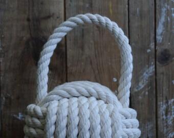 Nautical Decor - Cotton Rope - Doorstop - Nautical Gift - Cottage Doorstop - Rope Doorstop