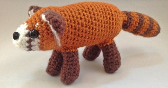Amigurumi Red Panda : Crochet Amigurumi Red Panda by GrapeVigneCrochet on Etsy