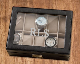 Personalized Watch Box - Monogrammed Watch Box - Groomsmen Gifts - Gifts for Dad - Gifts for Him - GC1082
