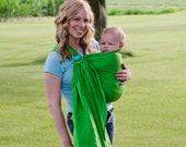 Baby Ring Sling 100% Linen in Lime