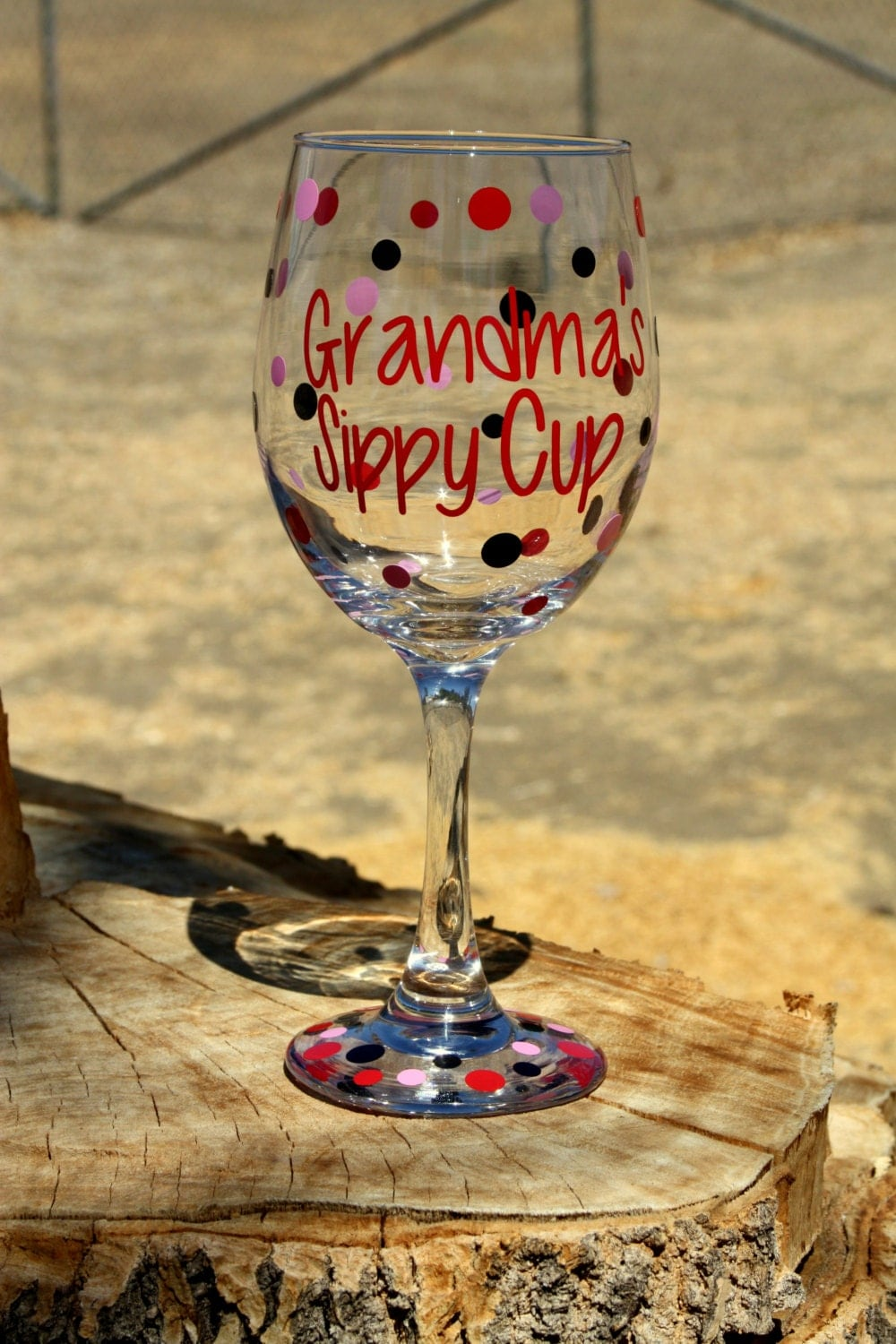 Extra Large Personalized Wine Glass Grandma 39 S Sippy Cup