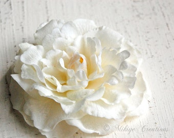 Wedding Hair Flower, Bridal Headpiece, Wedding Hair Piece, Bridal Hair Flower Clip - Enlightenment  Camellia