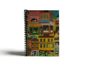 City Restaurants Spiral Bound Writing Journal, Blank Sketchbook, A5 Notebook, Back to School, Travel, Cute Diary Notebook, Draft, Ciaffi