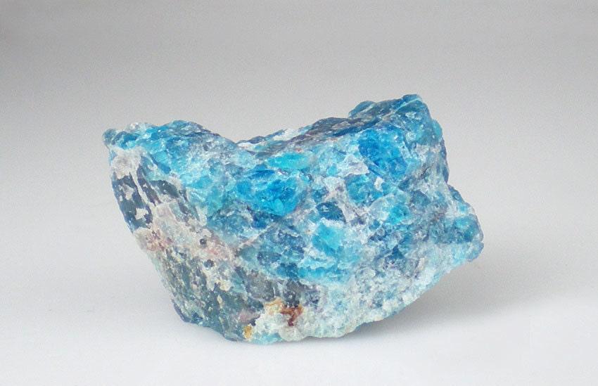 Neon Blue Apatite Rough Crystal Gemstone by milminedesignannex