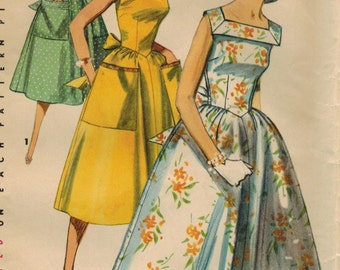 1950s Simplicity 1626 Vintage Sewing Pattern Misses Sundress Size 12 Bust 30