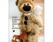 Teddy Bear Pattern with description in pictures by Pudra Studio Robert 19 cm ePattern Instant Download PDF Pattern Artist Teddy Bear pattern
