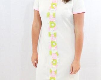 SALE ITEM Vintage White 60s Dress by Bleeker Street J