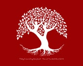 Wedding Tree of Love Custom art print - personalise names, dates and colour