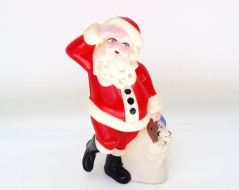 Vintage Santa Candy Container, Cake Topper, Military Gift, Candy Box Santa Claus, Christmas Decoration