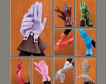 Evening Gloves Pattern Uncut Vogue V7949 Gussetted Wrist Elbow Length Day Daytime Evening Gauntlet Wristlet Rusched Womens Sewing Patterns