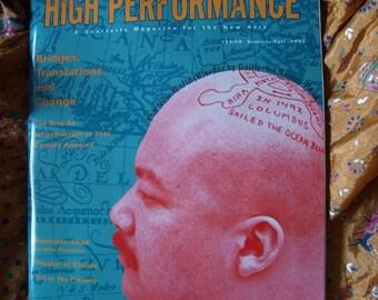 High Performance Magazine No 58/59 1992 New Arts John Cage Wojnarowicz Sound Gekidan Shiki Bandaloop