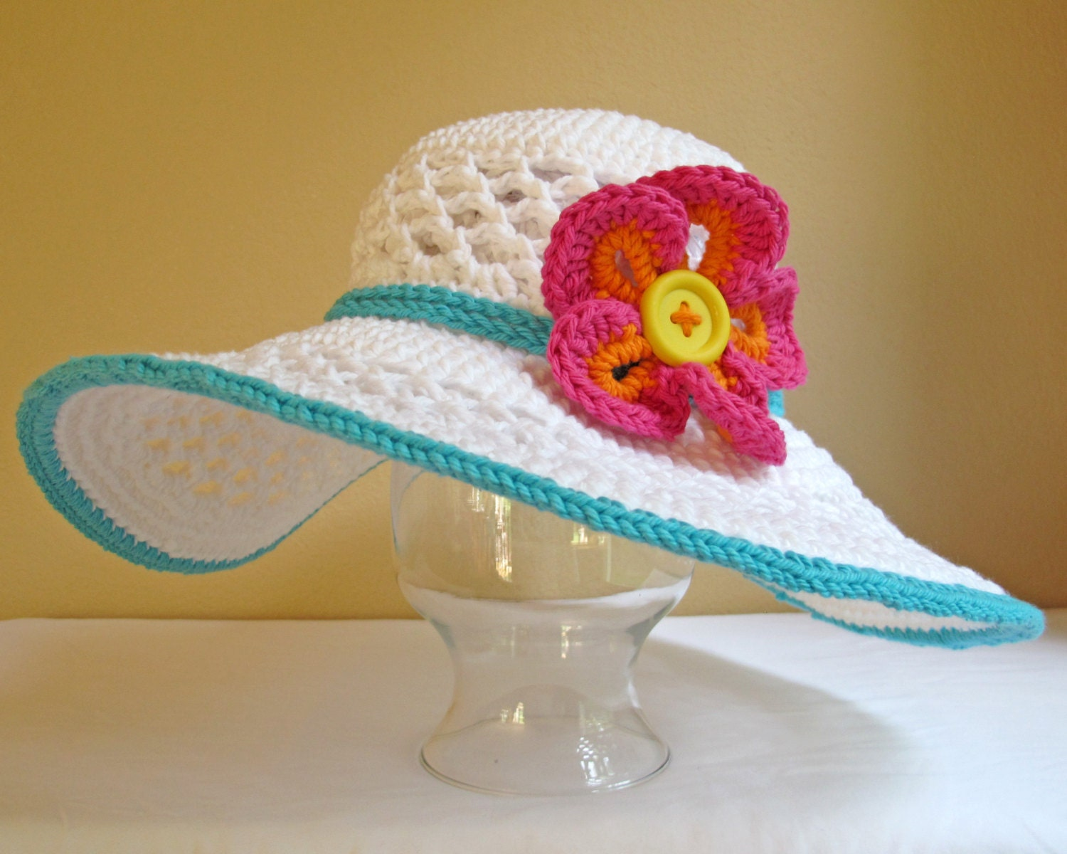 CROCHET PATTERN Aloha a crochet sun hat pattern beach
