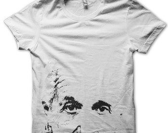 Men Albert Einstein Tshirt - white graphic t shirt