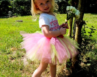 Pink and Green Tutu, Sizes Newborn - 5T