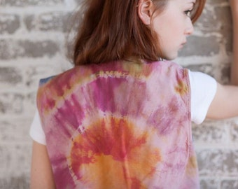 SALE Immaculate Heart: A Hand-Dyed Silk Vest