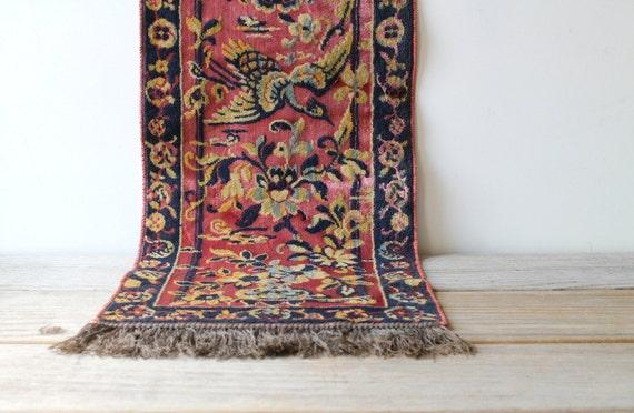 Vintage Italian Tapestry Table Runner Oriental Style