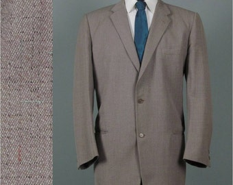 Vintage 1950s Atomic Fleck Suit 45 47