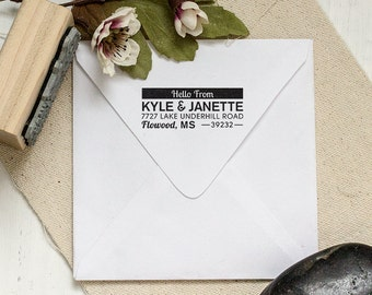 Custom Address Stamp, Custom Stamp, Personalized Stamp, Housewarming Gift, DIY Wedding Stamp, Custom Rubber Stamp, Address Stamp 2.5x1 Inch